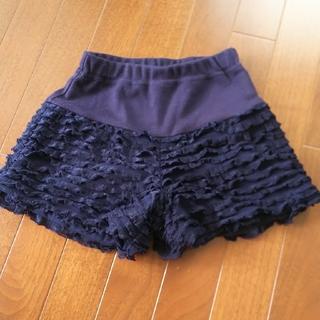 プティマイン(petit main)のプティマイン ショートパンツ パンツ フリル 紺 ネイビー ズボン 短パン(パンツ/スパッツ)