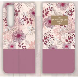 iPhone対応手帳型スマホケース FlowerPink
