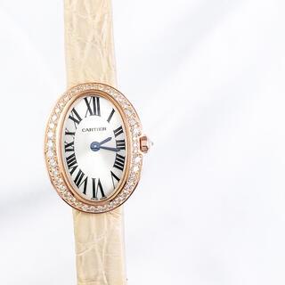カルティエ(Cartier)の【仕上済】カルティエ ミニベニュワール K18PG ダイヤ レディース 腕時計(腕時計)