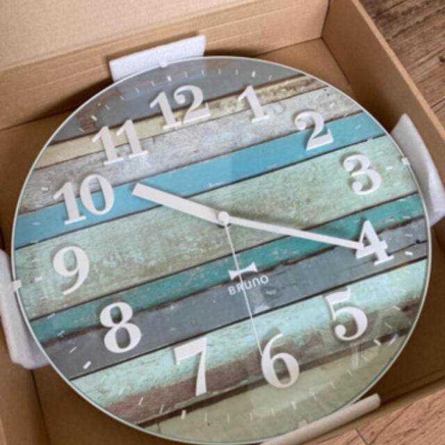 BALMUDA(バルミューダ)のBRUNOビンテージ電波掛け時計 インテリア/住まい/日用品のインテリア小物(掛時計/柱時計)の商品写真