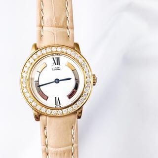 Cartier - 【仕上済】カルティエ ロンド トリニティ ゴールド ダイヤ レディース 時計