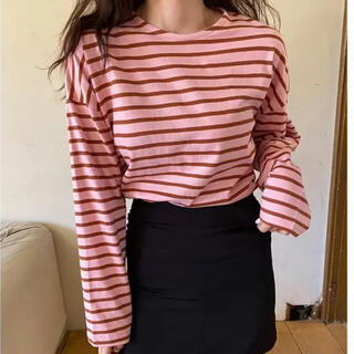 mystic - 【NUGU ヌグ】awesome stripe T  (ボーダーTシャツ)