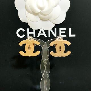 CHANEL - 正規品 シャネル イヤリング ゴールド ココマーク 金 ロゴ デカ COCO