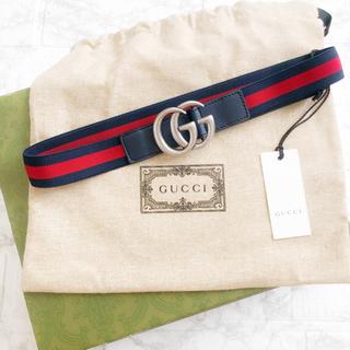 Gucci - 未使用品💎GUCCI グッチ チルドレン キッズ ベルト 60cm ロゴ