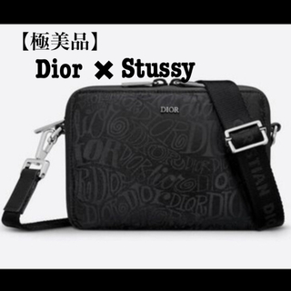 DIOR HOMME - 【美品】DIOR AND SHAWN  Stussy ストラップ ポーチ