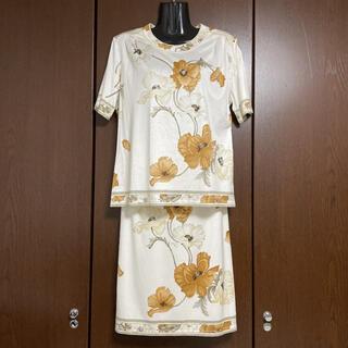 LEONARD - 【良品】LEONARD 花柄 スカートセットアップ L 72