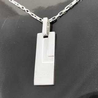 Gucci - 正規品 グッチ ネックレス プレート シルバー SV925 銀 L チェーン 3