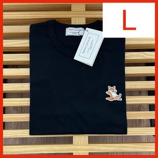 メゾンキツネ(MAISON KITSUNE')の【新品】メゾンキツネ Tシャツ ブラック L MAISON KITSUNE(Tシャツ(半袖/袖なし))
