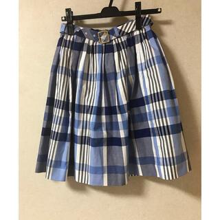 BURBERRY BLUE LABEL - ブルーレーベルクレストブリッジ   ベルト付 チェック柄 スカート