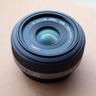 Panasonic - LUMIX G 20mm/F1.7 ASPH H-H020 単焦点 広角レンズ
