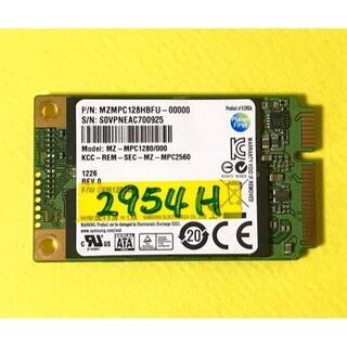 東芝 - サムソン製mSATA接続SSD (MZ-MPC1280) 使用約2954H