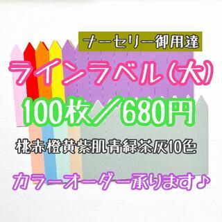 ◎ 100枚 ◎ 10色( 大 ) ラインラベル 園芸ラベル カラーラベル(プランター)