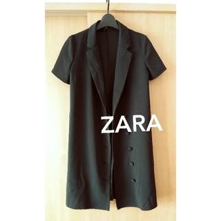 ZARA - 美品♪ZARA★サラッと羽織れるブラックジャケット