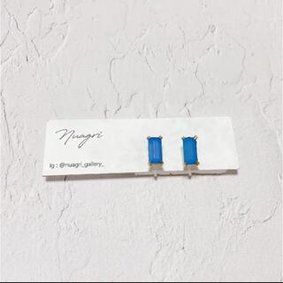 アメリヴィンテージ(Ameri VINTAGE)のvintage bijou earring(blue)(イヤリング)