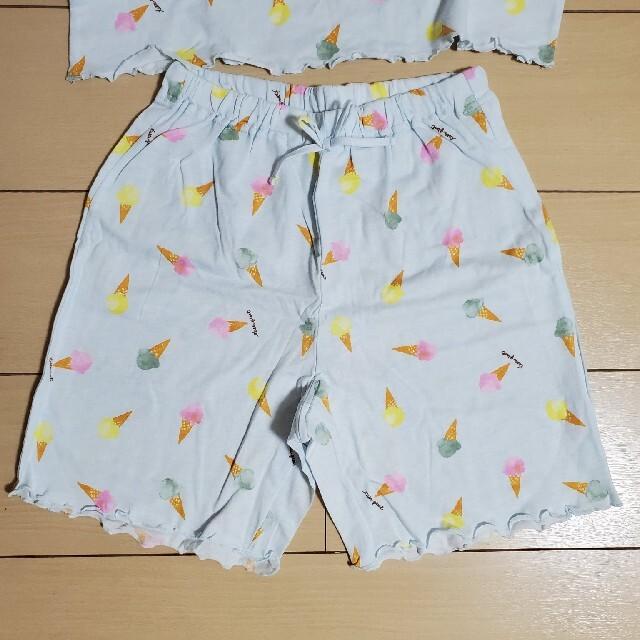 GU(ジーユー)のGUラウンジセット  パジャマ 140 キッズ/ベビー/マタニティのキッズ服女の子用(90cm~)(パジャマ)の商品写真