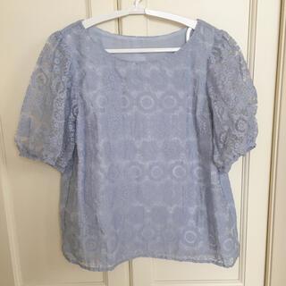 クチュールブローチ(Couture Brooch)のレース模様カットソー(カットソー(半袖/袖なし))