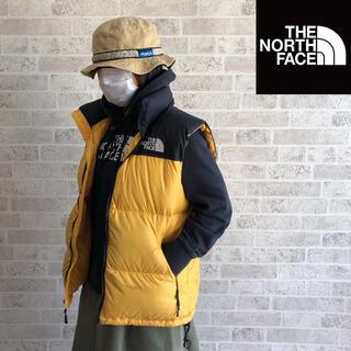 ザノースフェイス(THE NORTH FACE)の【人気色】ノースフェイス ダウンベスト 黄×黒 Mサイズ (ダウンベスト)