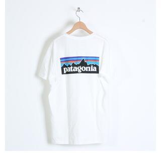パタゴニア(patagonia)のPatagonia Tシャツ P-6 Logo Organic ホワイト  M(Tシャツ/カットソー(半袖/袖なし))