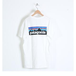 パタゴニア(patagonia)のPatagonia Tシャツ P-6 Logo Organic ホワイト  L(Tシャツ/カットソー(半袖/袖なし))