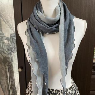 ツーウェイのスカーフ&ストール パール