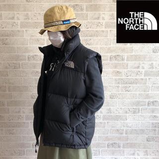 ザノースフェイス(THE NORTH FACE)の【大評判】ノースフェイス ダウンベスト 黒 Lサイズ(ダウンベスト)