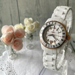 ヴィヴィアンウエストウッド(Vivienne Westwood)の【動作OK】vivienne ヴィヴィアン 腕時計 セラミック レディース(腕時計)