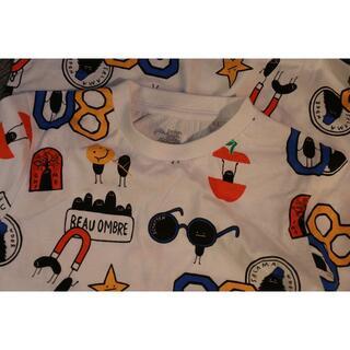 Design Tshirts Store graniph - 美品♪グラニフ■半袖Tシャツ▼ポップリゾート柄☆140サイズ♪未使用