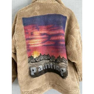 PEACEMINUSONE - doublet painting fur jacket