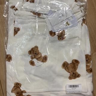 ジェラートピケ(gelato pique)の【ONLINE限定】ベアモチーフ抗菌防臭Tシャツ&ショートパンツ&巾着SET(ルームウェア)