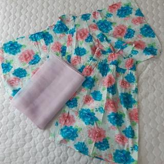 ベルメゾン(ベルメゾン)の女の子浴衣 110~120cm セパレート3点セット (甚平/浴衣)