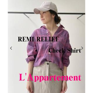 L'Appartement DEUXIEME CLASSE - L'Appartement♡REMI RELIEF♡最新作Check Shirt