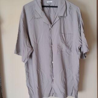 GU - オープンカラーシャツ グレーXL