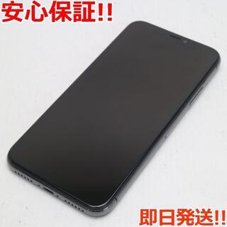 アイフォーン(iPhone)の美品 SIMフリー iPhoneX 64GB スペースグレイ (スマートフォン本体)