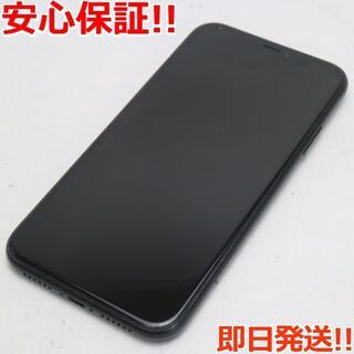 アイフォーン(iPhone)の美品 SIMフリー iPhoneXR 128GB ブラック 白ロム (スマートフォン本体)