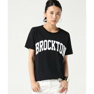 アパルトモンドゥーズィエムクラス(L'Appartement DEUXIEME CLASSE)の極美品 希少 ドゥーズィエムクラス BROCKTON Tシャツ ブラック 黒(Tシャツ(半袖/袖なし))