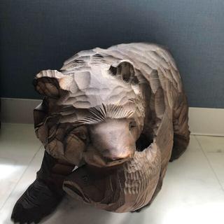 熊の木彫り(彫刻/オブジェ)