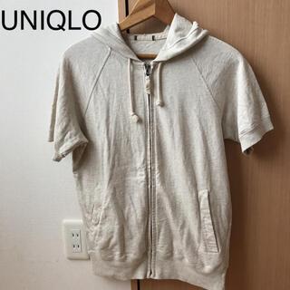 ユニクロ(UNIQLO)のUNIQLO ユニクロ 半袖 パーカー メンズ コットン 綿(パーカー)