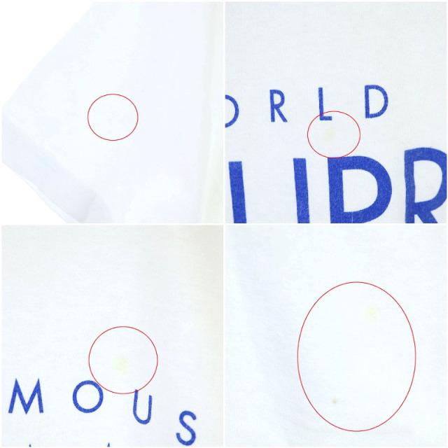 Supreme(シュプリーム)のシュプリーム Tシャツ カットソー 半袖 ロゴ プリント M 白 青 レディースのレディース その他(その他)の商品写真