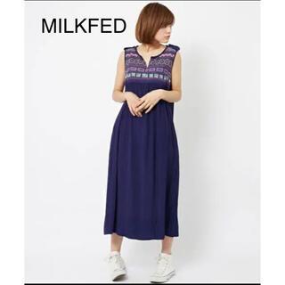 ミルクフェド(MILKFED.)のMILKFED.  ミルクフェド  刺繍 ロングワンピース(ロングワンピース/マキシワンピース)