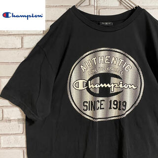 Champion - 90s 古着 チャンピオン Tシャツ 刺繍ロゴ プリント ビッグシルエット