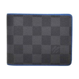 LOUIS VUITTON - ルイヴィトン グラフィット ポルトフォイユ・スレンダー ブルー J3745