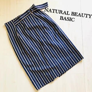 NATURAL BEAUTY BASIC - NATURAL BEAUTY BASIC★ストライプタイトスカート
