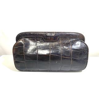 アルマーニ(Armani)のGIORGIO ARMANI 型押しクロコ調デザインレザーセカンドバッグ(セカンドバッグ/クラッチバッグ)