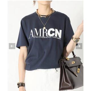 ドゥーズィエムクラス(DEUXIEME CLASSE)の新品タグ付き AMERICANA/アメリカーナ AMRCN Tシャツ(Tシャツ(半袖/袖なし))