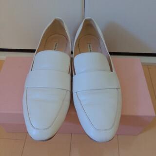 ファビオルスコーニ(FABIO RUSCONI)の【FABIO RUSCONI】モカデザインレザーシューズ:37(ローファー/革靴)