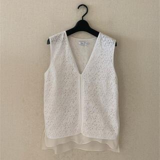 ビンス(Vince)のVINCE♡ノースリーブデザインシャツ(シャツ/ブラウス(半袖/袖なし))