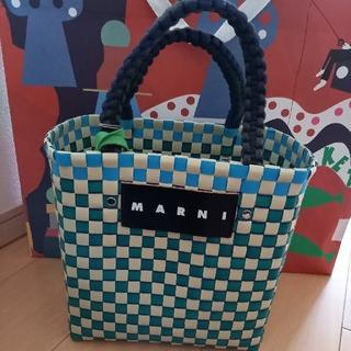 Marni - MARNIマルニ ジャージーハンドルピクニックバックミニ グリーン