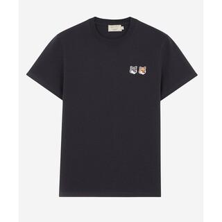 メゾンキツネ(MAISON KITSUNE')のメゾンキツネ 半袖Tシャツ Lサイズ ブラック レディース メンズ(Tシャツ(半袖/袖なし))