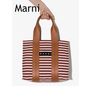 Marni - 【新品】マルニ BURTON ストライプ トートバッグ