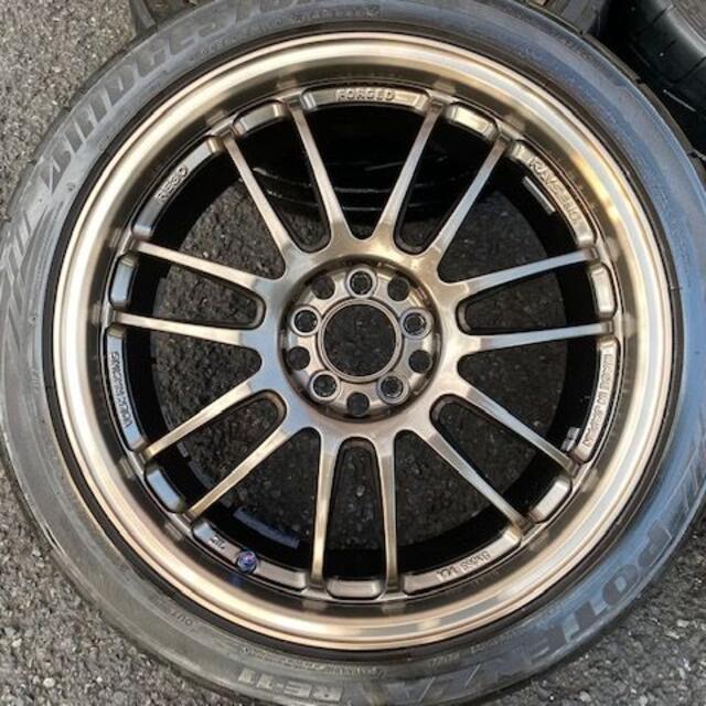 レイズ RAYS ボルクレーシング RE30 18インチ レガシィ 86などに! 自動車/バイクの自動車(タイヤ・ホイールセット)の商品写真